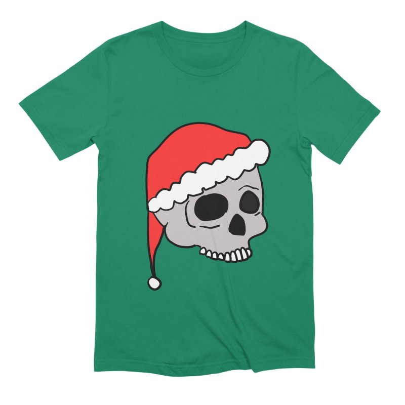Santa Cap Skull Men's Extra Soft T-Shirt by ericallen's Artist Shop