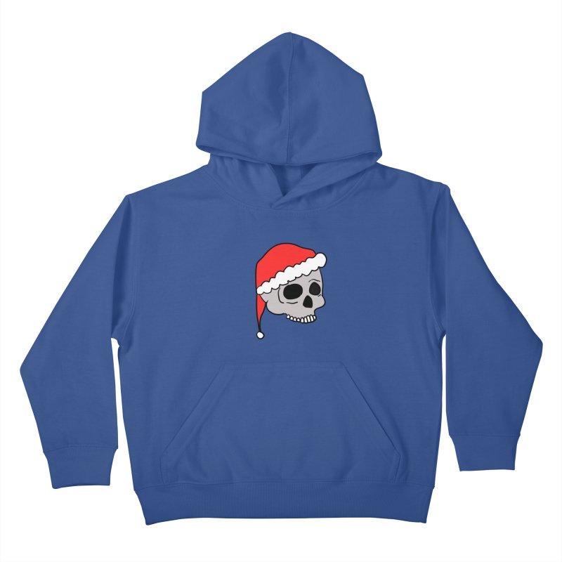 Santa Cap Skull Kids Pullover Hoody by ericallen's Artist Shop