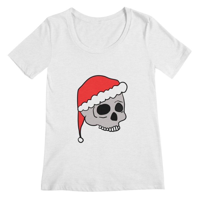 Santa Cap Skull Women's Regular Scoop Neck by ericallen's Artist Shop