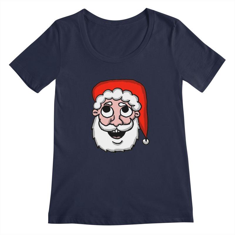 Cartoon Santa head Women's Regular Scoop Neck by ericallen's Artist Shop