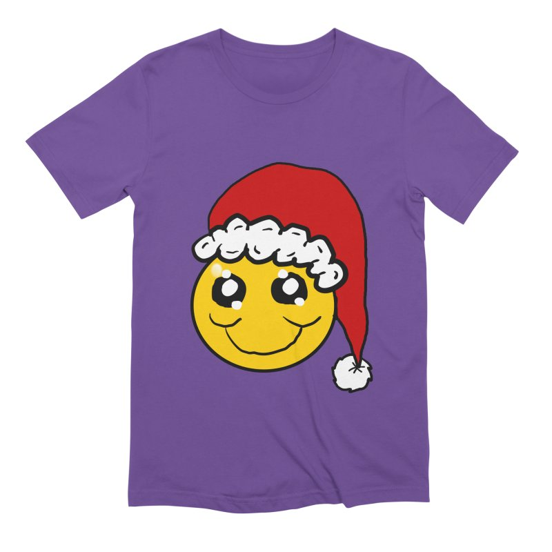 Santa Smiley Men's Extra Soft T-Shirt by ericallen's Artist Shop