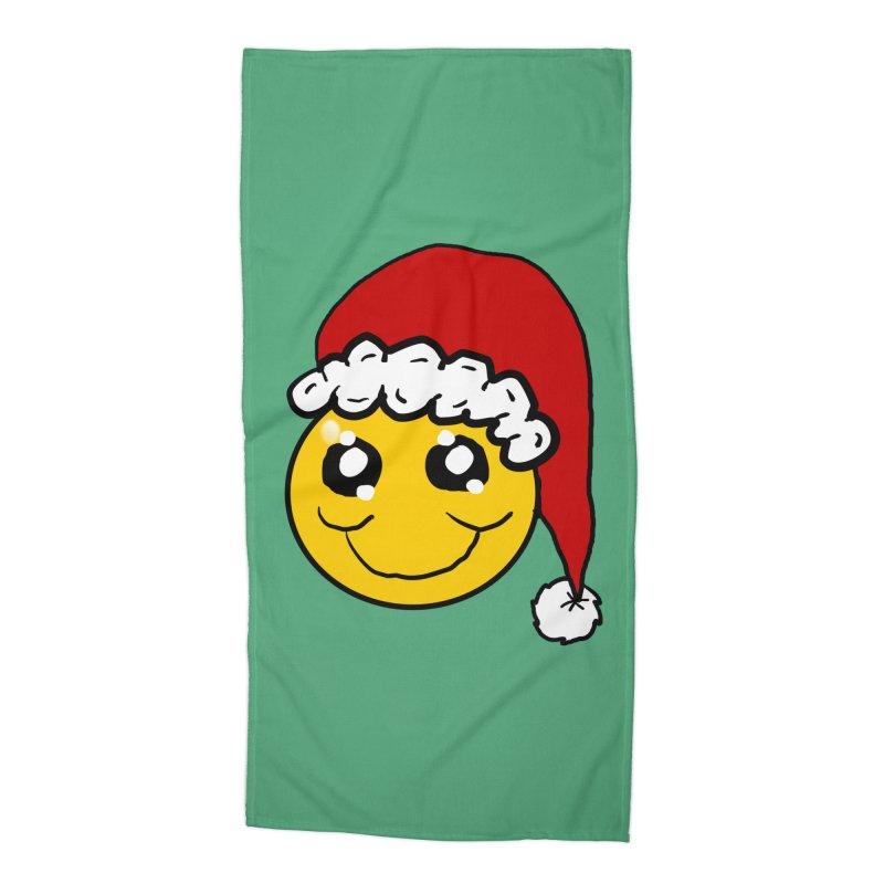 Santa Smiley Accessories Beach Towel by ericallen's Artist Shop
