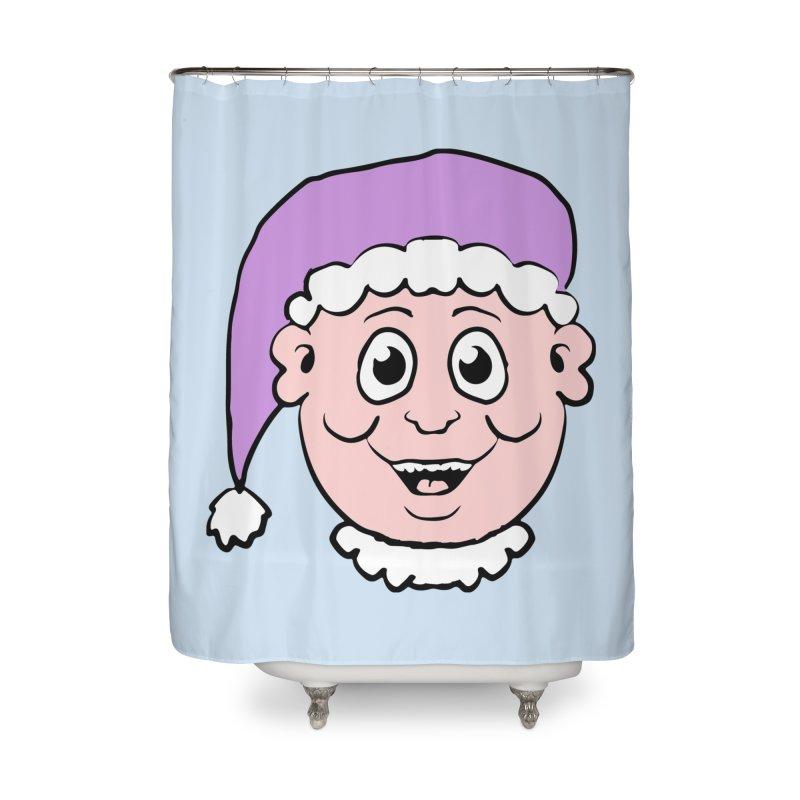 Elf Head Home Shower Curtain by ericallen's Artist Shop