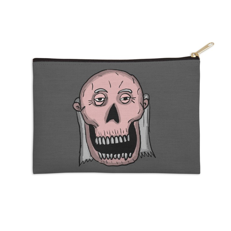 Zombie Head Accessories Zip Pouch by ericallen's Artist Shop