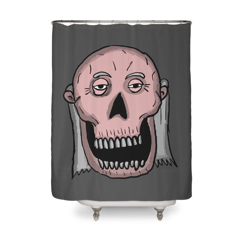 Zombie Head Home Shower Curtain by ericallen's Artist Shop