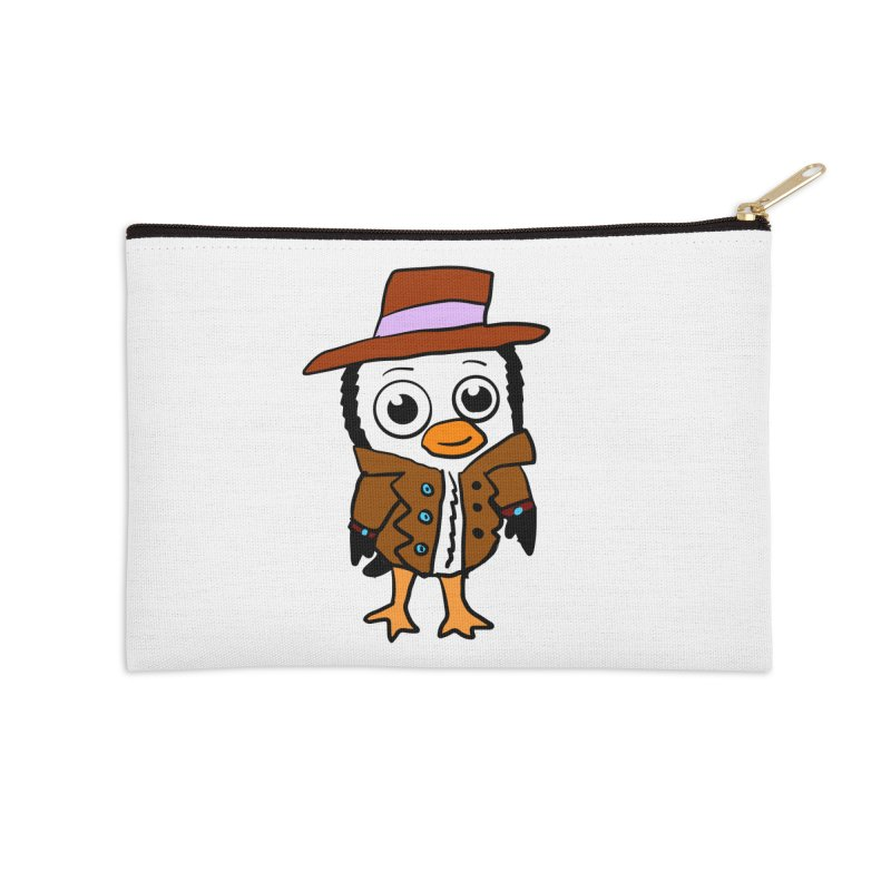 Penguin Mobster Accessories Zip Pouch by ericallen's Artist Shop