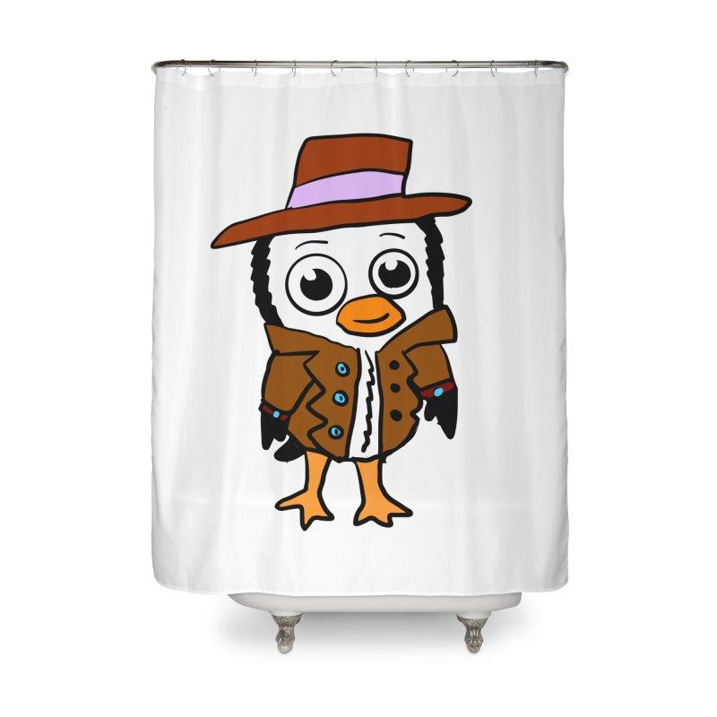 Penguin Mobster Home Shower Curtain by ericallen's Artist Shop