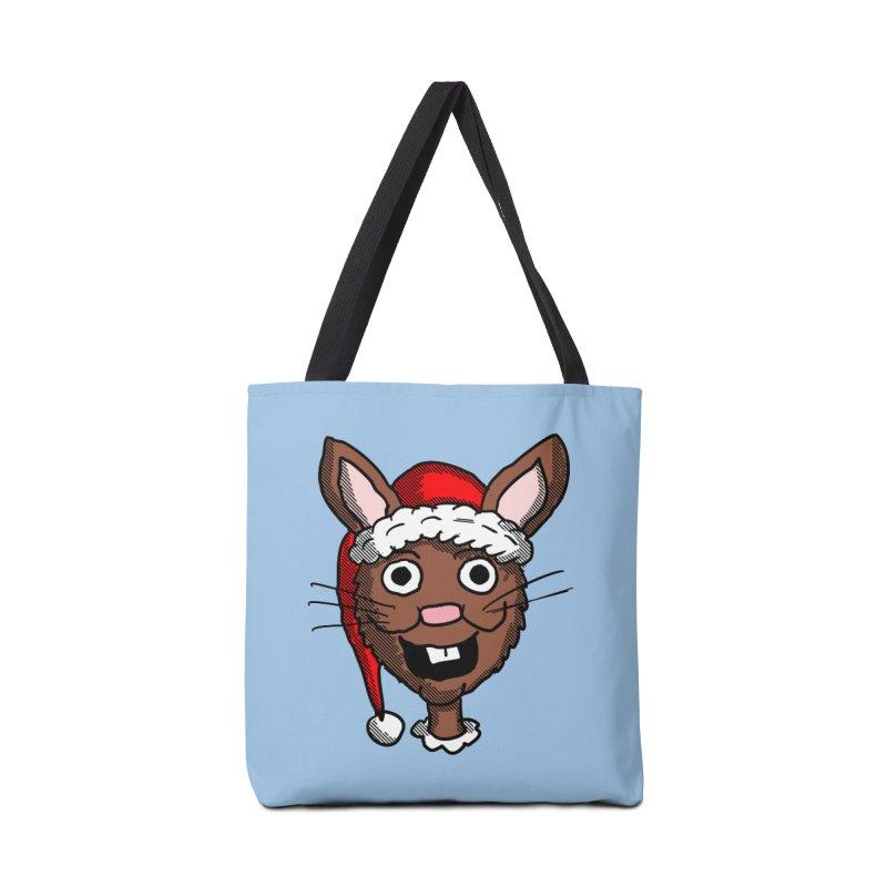 Xmas Bunny head 2 Accessories Bag by ericallen's Artist Shop