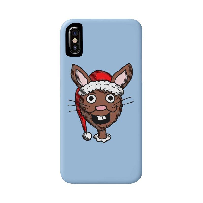 Xmas Bunny head 2 Accessories Phone Case by ericallen's Artist Shop