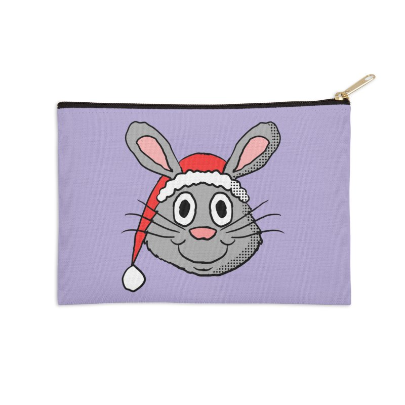 Xmas Bunny 1 Accessories Zip Pouch by ericallen's Artist Shop