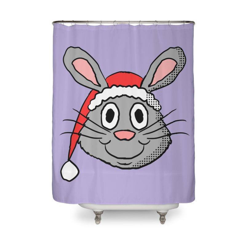 Xmas Bunny 1 Home Shower Curtain by ericallen's Artist Shop
