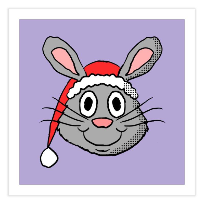 Xmas Bunny 1 Home Fine Art Print by ericallen's Artist Shop