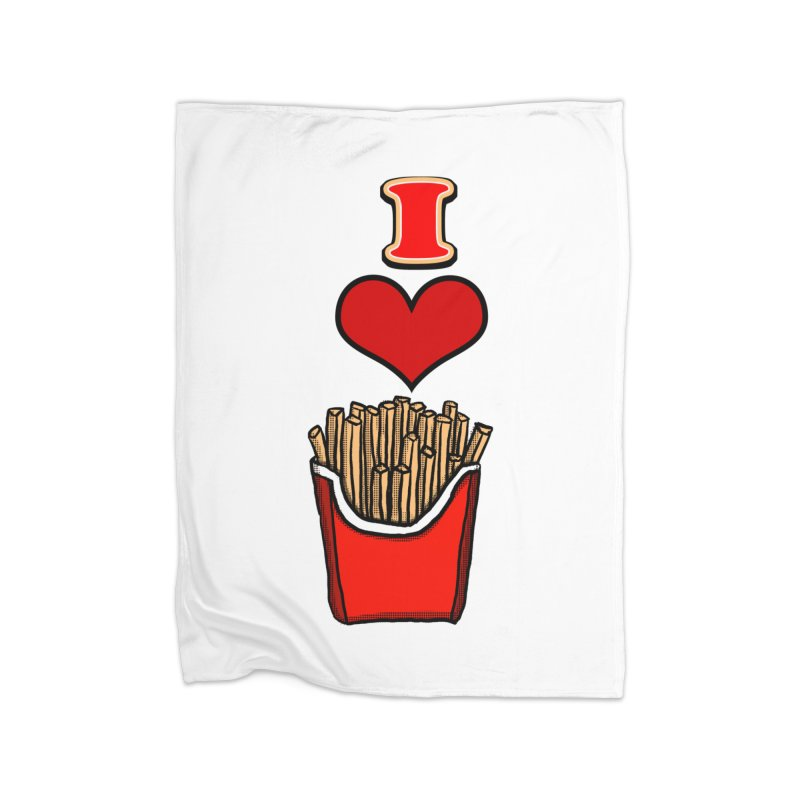I Heart French Fries 1 Home Blanket by ericallen's Artist Shop