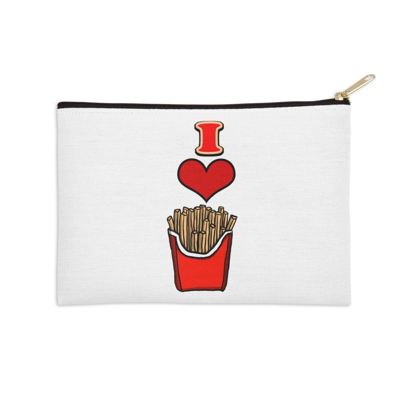 I Heart French Fries 1 Accessories Zip Pouch by ericallen's Artist Shop