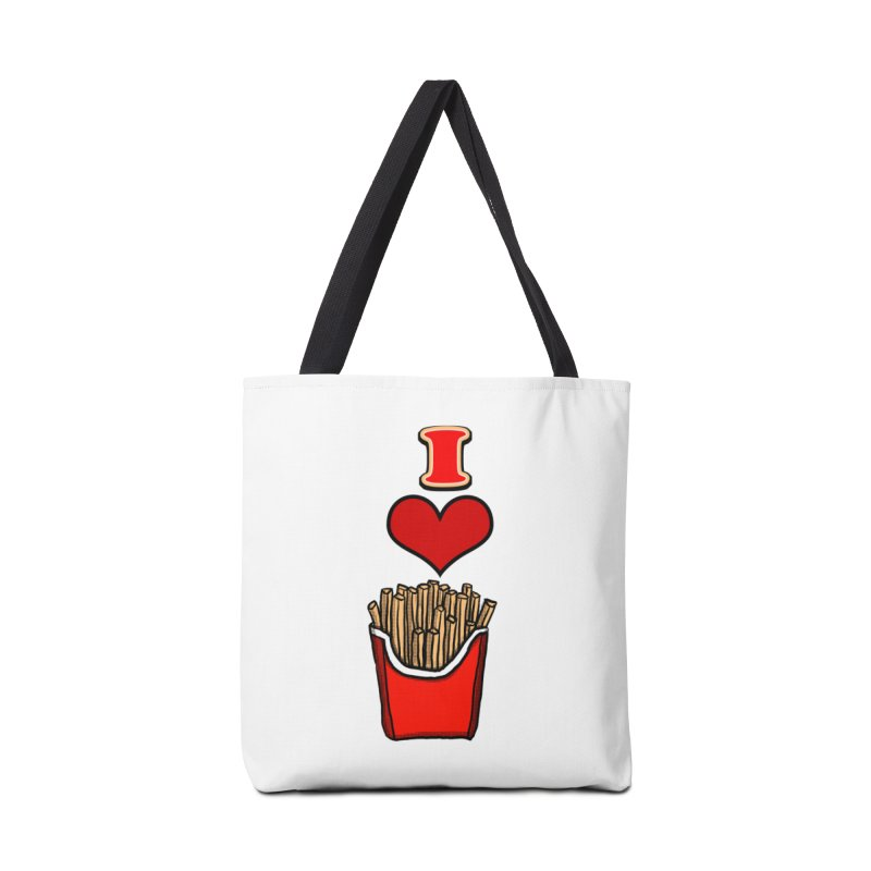 I Heart French Fries 1 Accessories Bag by ericallen's Artist Shop