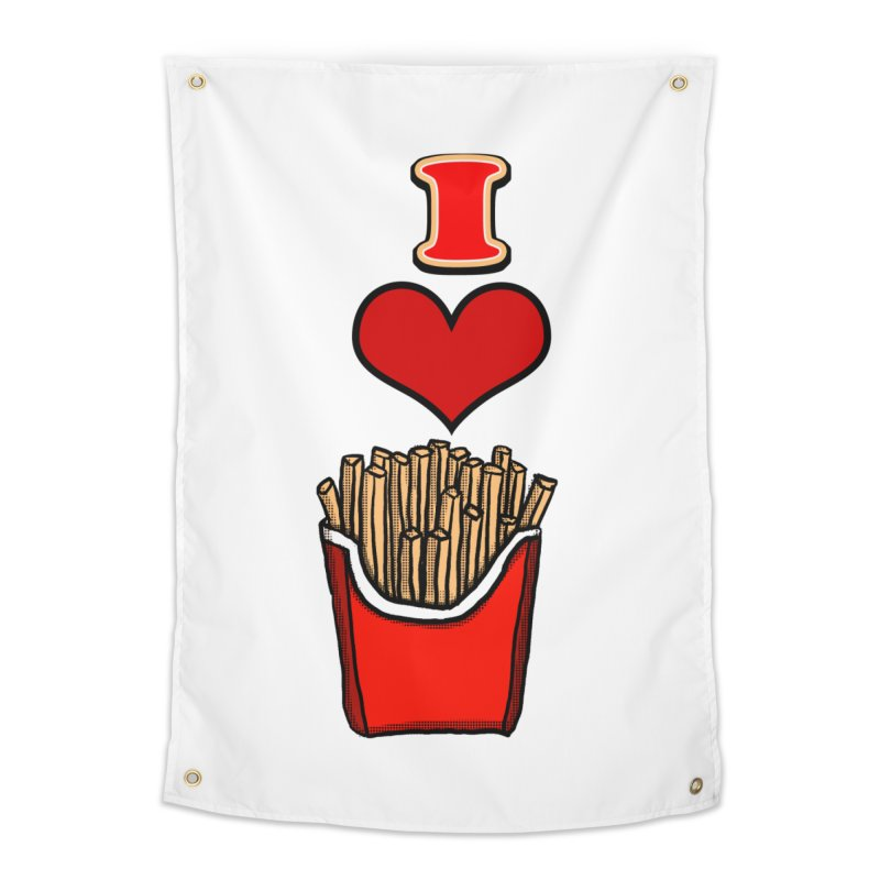 I Heart French Fries 1 Home Tapestry by ericallen's Artist Shop