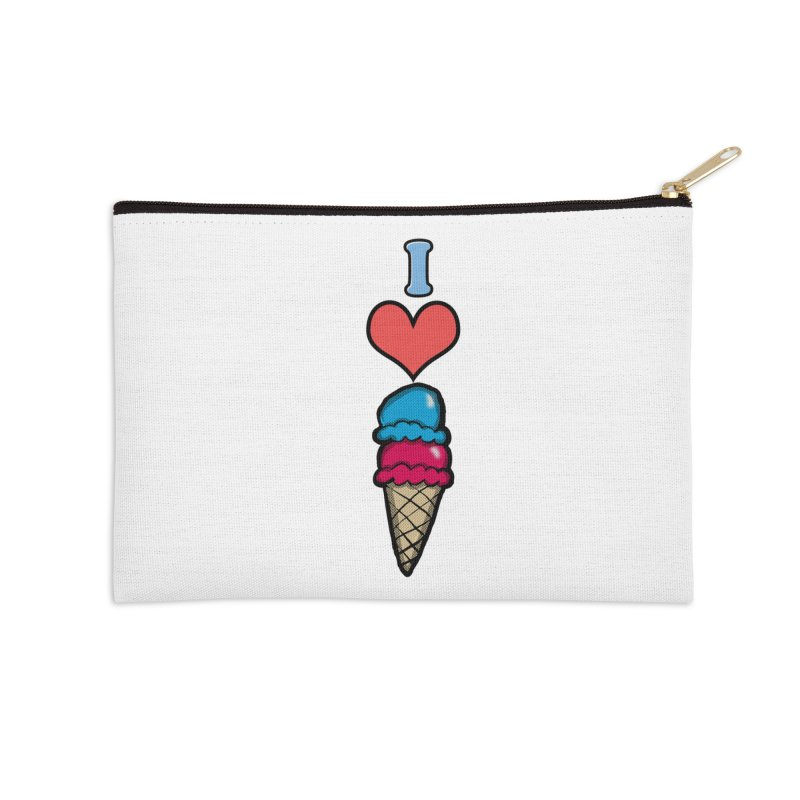 I heart Ice Cream Cone Accessories Zip Pouch by ericallen's Artist Shop