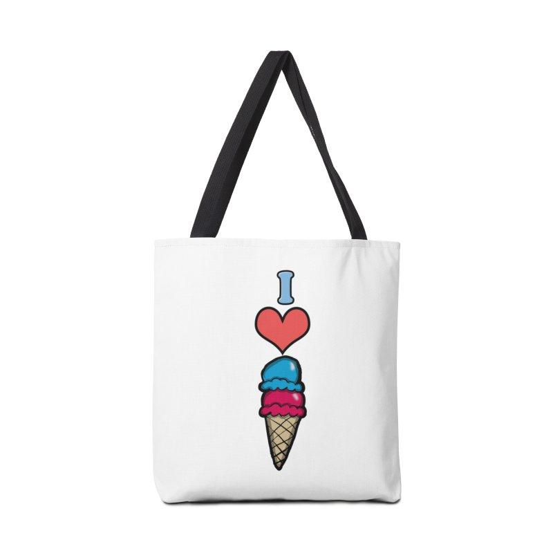 I heart Ice Cream Cone Accessories Bag by ericallen's Artist Shop