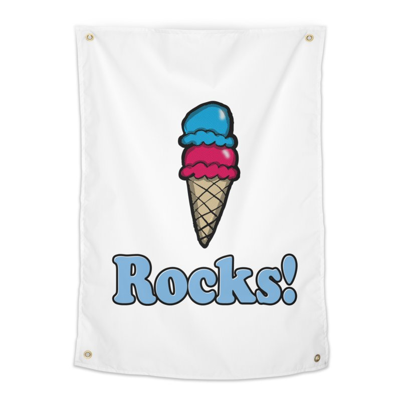 Ice Cream Rocks Home Tapestry by ericallen's Artist Shop