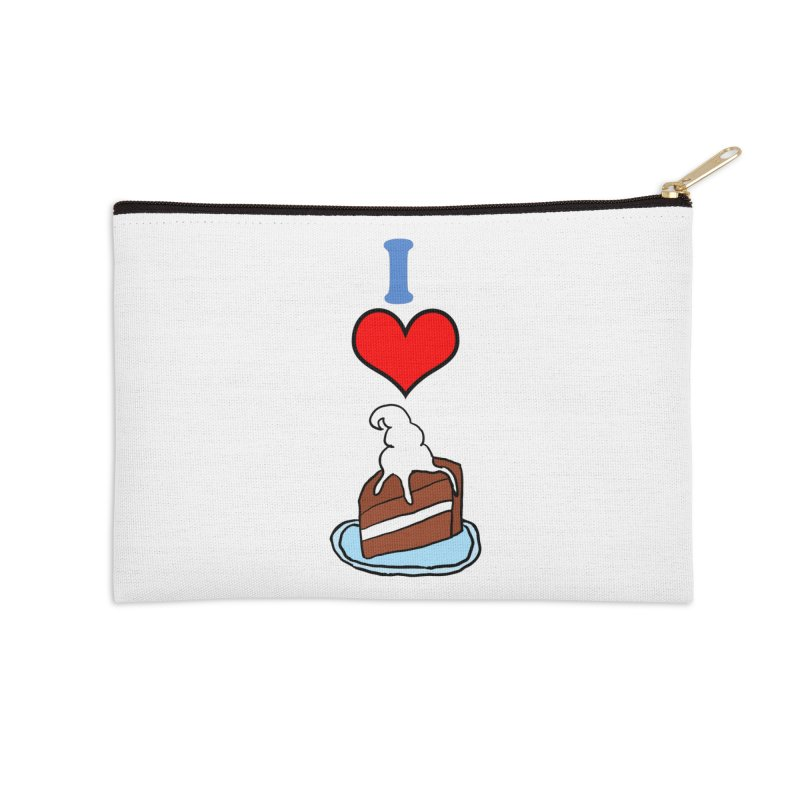 I heart cake Accessories Zip Pouch by ericallen's Artist Shop