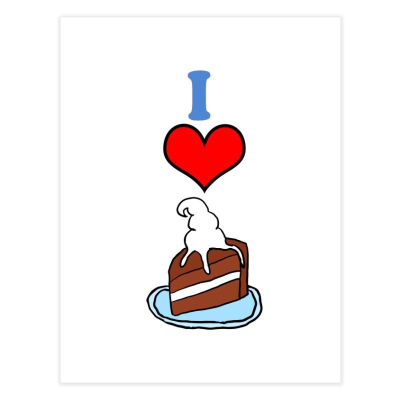 I heart cake Home Fine Art Print by ericallen's Artist Shop