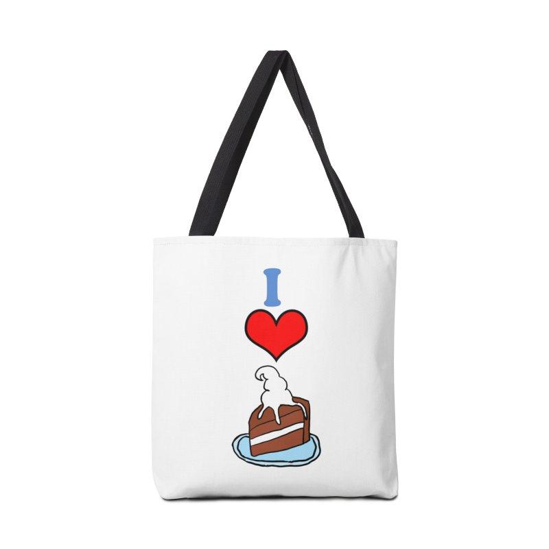 I heart cake Accessories Bag by ericallen's Artist Shop