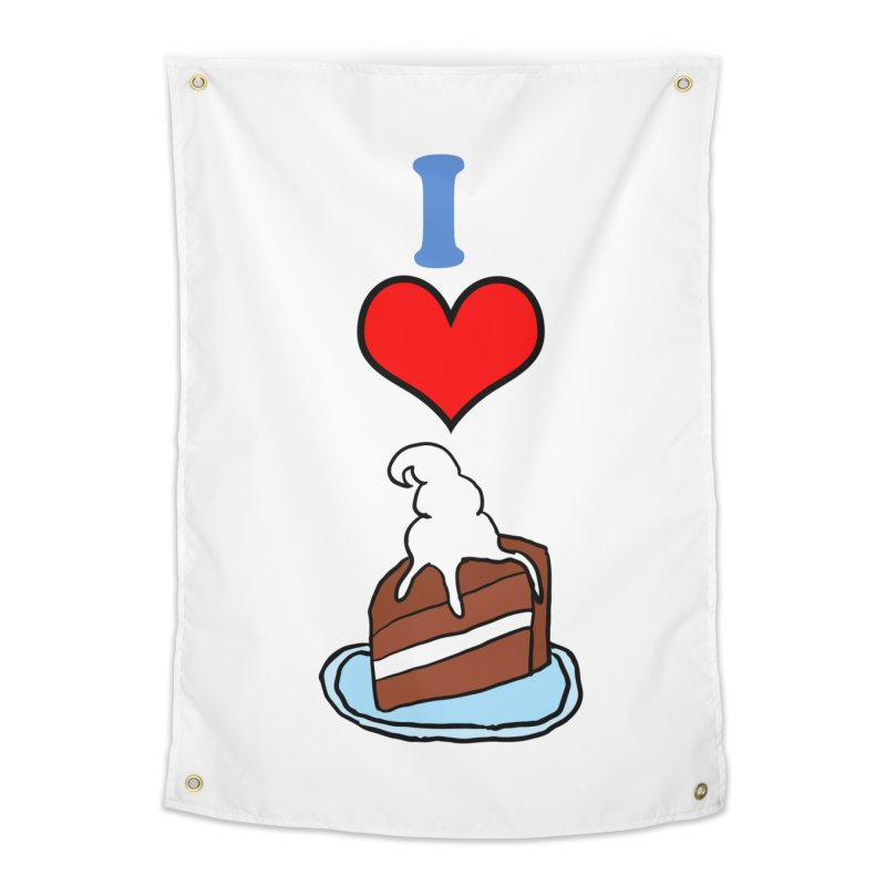 I heart cake Home Tapestry by ericallen's Artist Shop