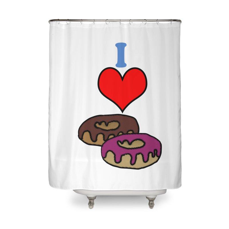 I heart donuts Home Shower Curtain by ericallen's Artist Shop
