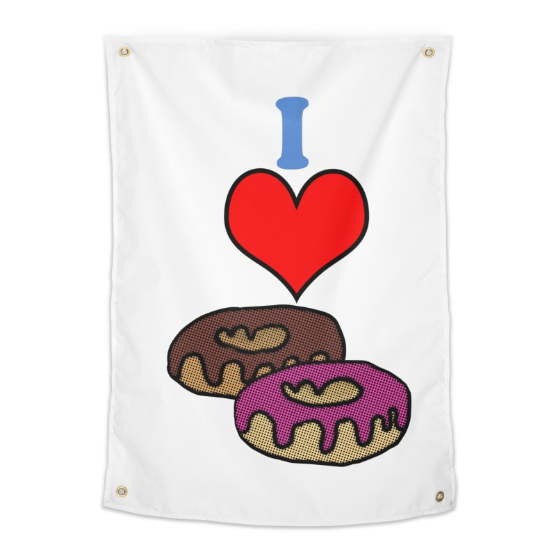 I heart donuts Home Tapestry by ericallen's Artist Shop