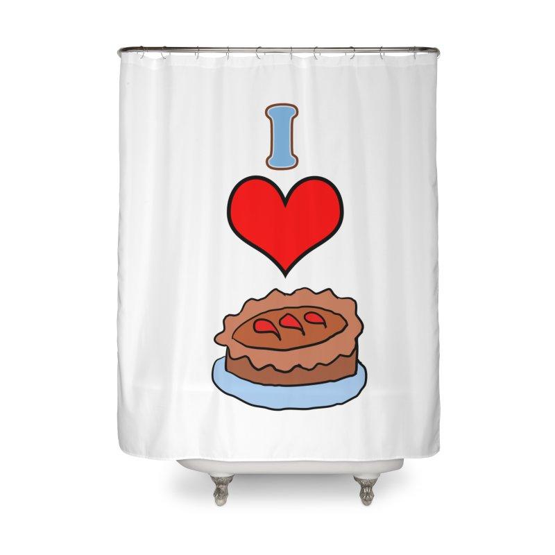 I heart pie Home Shower Curtain by ericallen's Artist Shop
