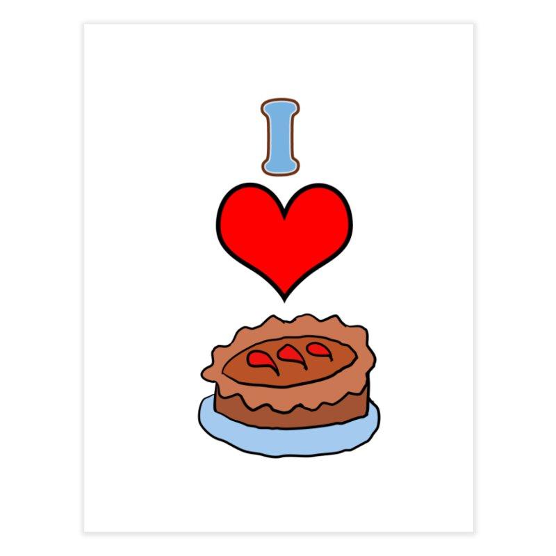 I heart pie Home Fine Art Print by ericallen's Artist Shop