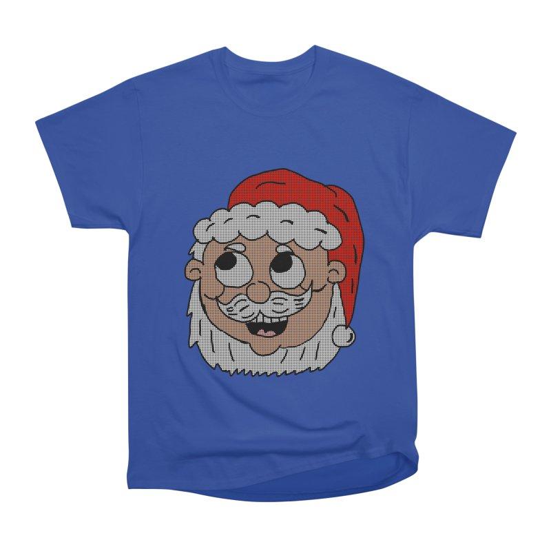 Halftoned Santa head Women's Heavyweight Unisex T-Shirt by ericallen's Artist Shop
