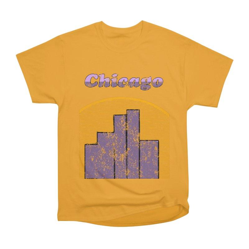 Vintage Chicago Logo Women's Heavyweight Unisex T-Shirt by ericallen's Artist Shop