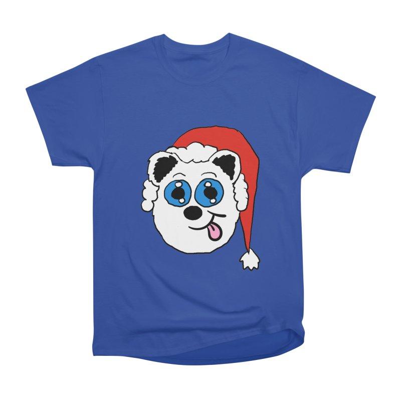 Panda Santa head Women's Heavyweight Unisex T-Shirt by ericallen's Artist Shop