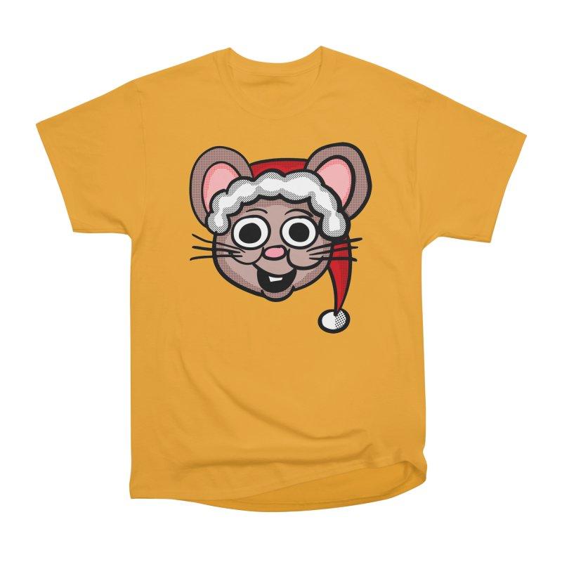 Santa Mouse Women's Heavyweight Unisex T-Shirt by ericallen's Artist Shop