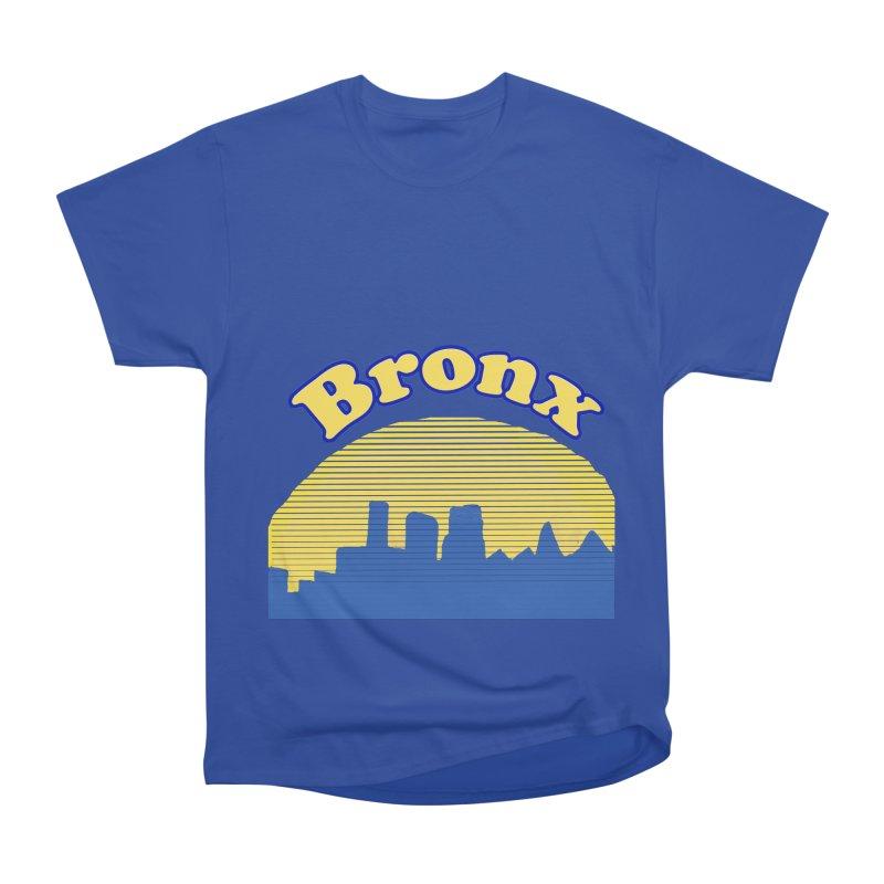 Bronx Sunset Skyline Women's Heavyweight Unisex T-Shirt by ericallen's Artist Shop