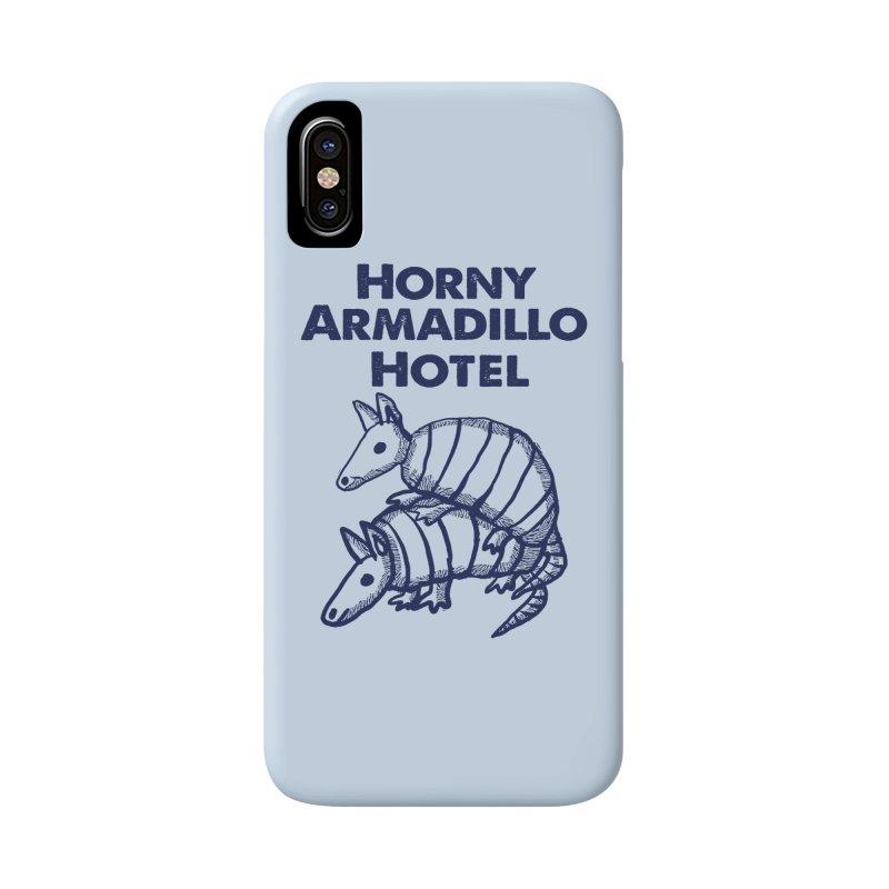 Horny Armadillo Hotel 3 Accessories Phone Case by ericallen's Artist Shop