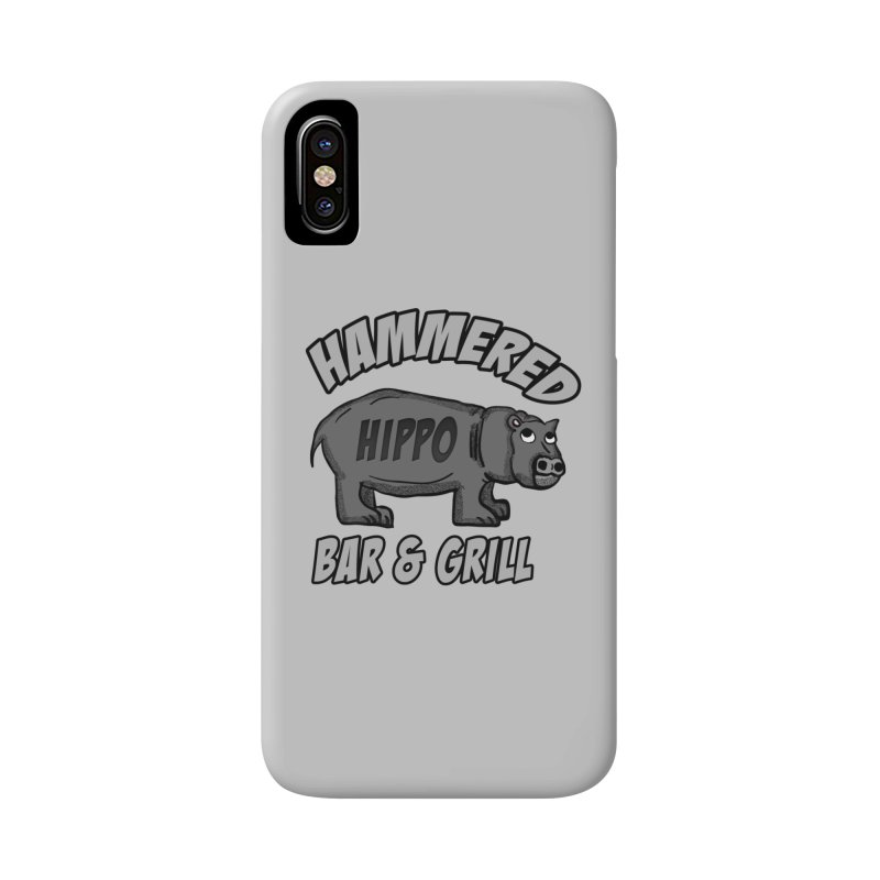 Hammered Hippo Bar and grill Accessories Phone Case by ericallen's Artist Shop