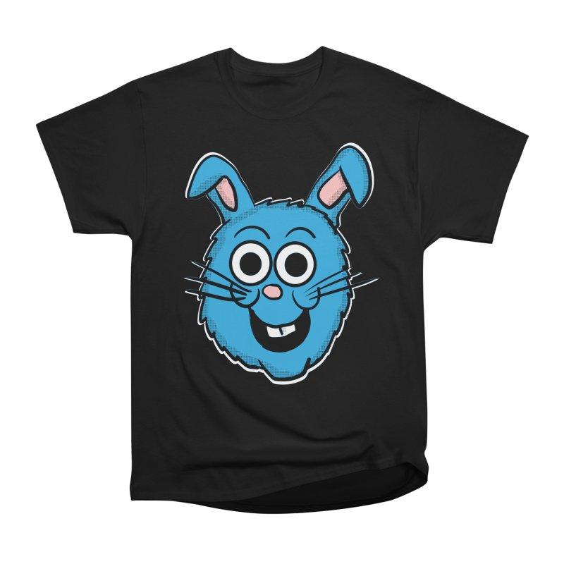 Blue Bunny Head Women's Heavyweight Unisex T-Shirt by ericallen's Artist Shop