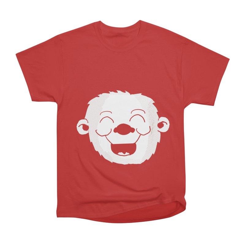 Laughing monkey head Women's Heavyweight Unisex T-Shirt by ericallen's Artist Shop