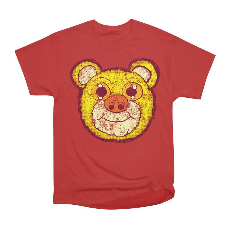 Retro Yellow Bear head Women's Heavyweight Unisex T-Shirt by ericallen's Artist Shop