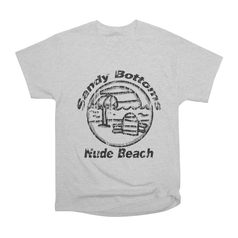 Vintage Sandy Bottoms Nue Beach Women's Heavyweight Unisex T-Shirt by ericallen's Artist Shop