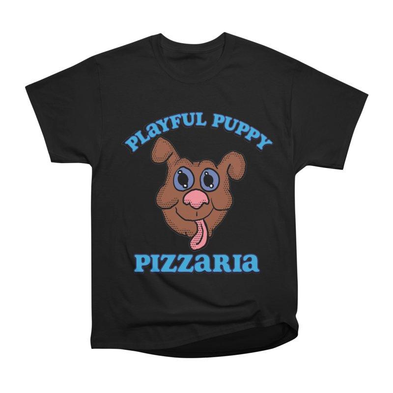 Playful Puppy Pizzaria Women's Heavyweight Unisex T-Shirt by ericallen's Artist Shop