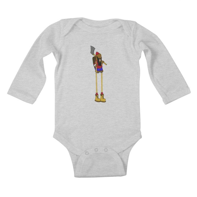 Industrial Espionage Kids Baby Longsleeve Bodysuit by ericboekercomics's Artist Shop