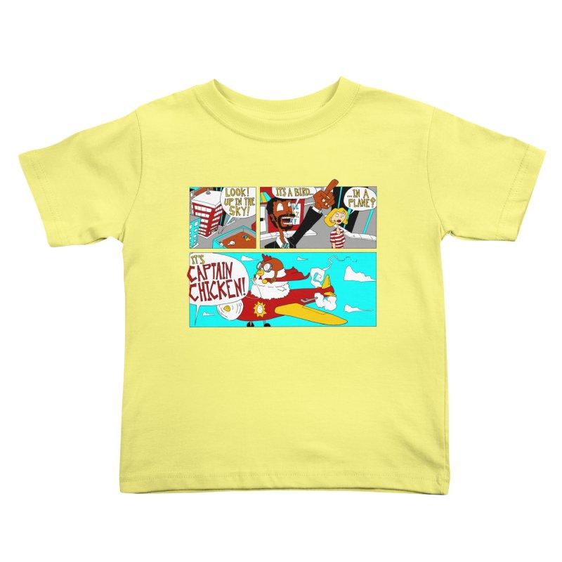 It's a bird...in a plane? Kids Toddler T-Shirt by ericboekercomics's Artist Shop