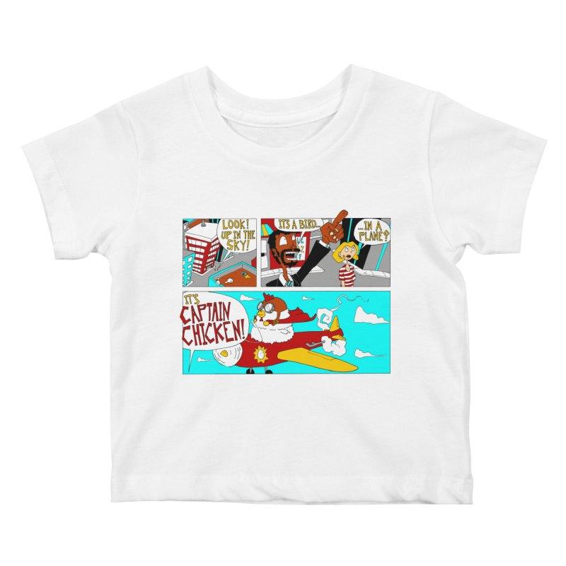 It's a bird...in a plane? Kids Baby T-Shirt by ericboekercomics's Artist Shop
