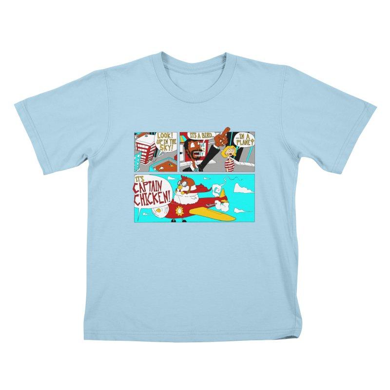 It's a bird...in a plane? Kids T-Shirt by ericboekercomics's Artist Shop