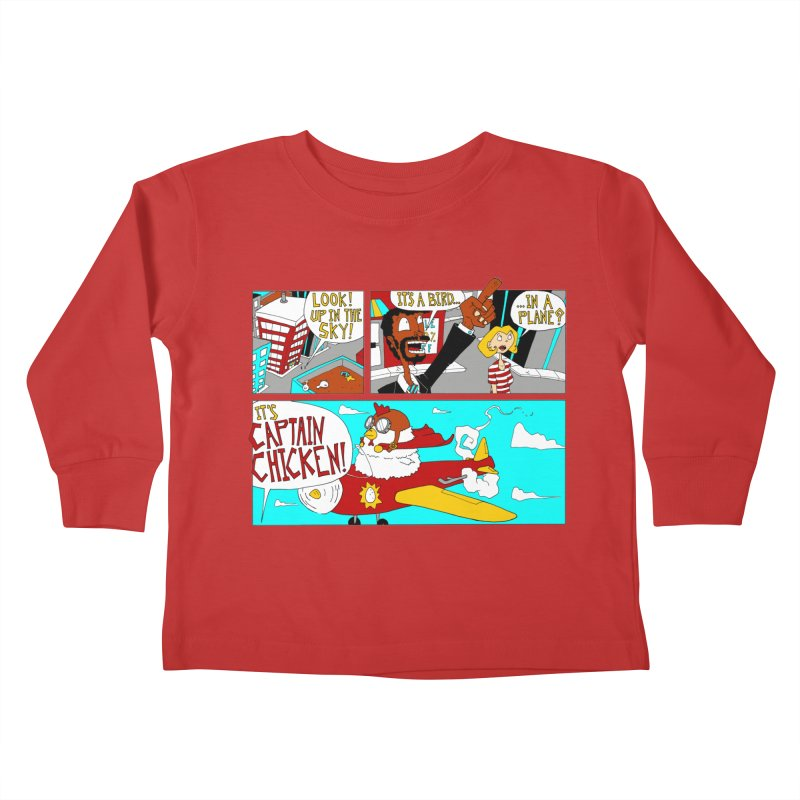 It's a bird...in a plane? Kids Toddler Longsleeve T-Shirt by ericboekercomics's Artist Shop