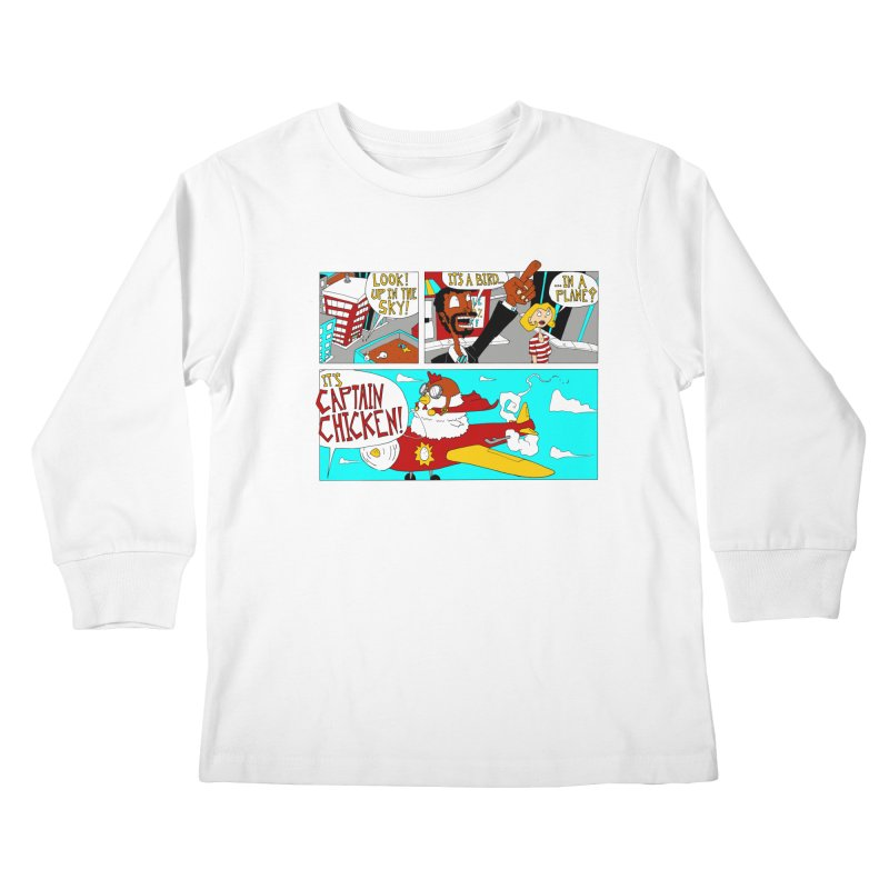 It's a bird...in a plane? Kids Longsleeve T-Shirt by ericboekercomics's Artist Shop