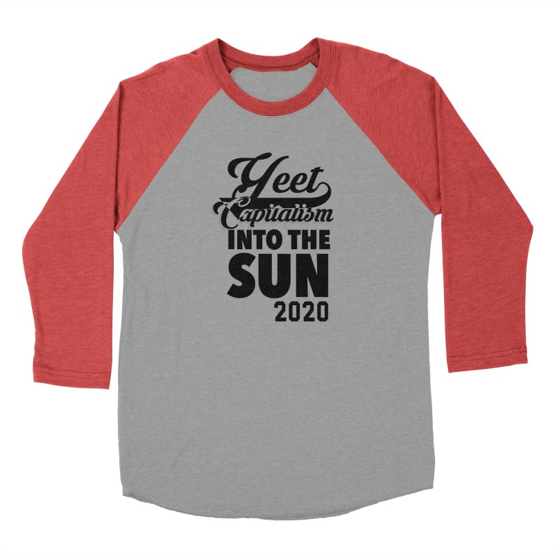 Yeet Capitalism Into The Sun on red Women's Longsleeve T-Shirt by eric cash